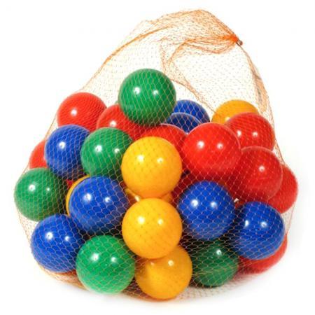 Купить Каталка Нордпласт НАБОР ИЗ 50 ШАРИКОВ пластик от 6 месяцев разноцветный 414, Мячи и животные-прыгуны