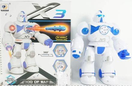 Боевой робот Shantou Gepai 1801B082 со звуком светящийся боевой робот shantou gepai воин галактики 30 см двигающийся со звуком светящийся 6007