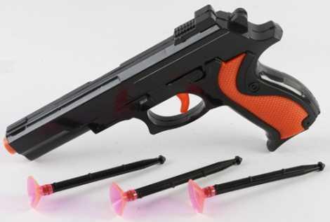 Пистолет Shantou Gepai ПИСТОЛЕТ С ПРИСОСКАМИ коричневый черный B1512203 автомат shantou gepai с присосками 618a 1
