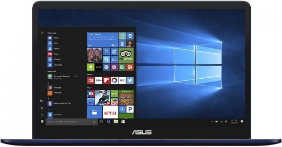 Ноутбук ASUS Zenbook Pro UX550VD-BN247T 15.6 1920x1080 Intel Core i5-7300HQ 256 Gb 8Gb nVidia GeForce GTX 1050Ti 4096 Мб синий Windows 10 Home 90NB0ET1-M04440 системный блок just home intel® core™ i5 7400 3 0ghz s1151 h110m r c si 8gb ddr4 2400mhz hdd sata 2tb 7200 32mb 6144mb geforce gtx 1060 atx 600w