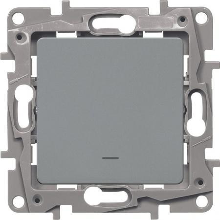 цены Legrand 672403 Выключатель одноклавишный с подсветкой/индикацией - автоматические клеммы - Etika - 10 AX - 250 В~ - алюминий