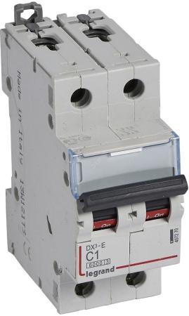 Legrand 407281 Автоматический выключатель DX3-E 6000 - 6 кА - тип характеристики C - 2П - 230/400 В~ - 40 А - 2 модуля