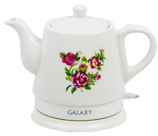 Чайник электрический GALAXY GL0502 1400 Вт белый 1 л керамика цена и фото