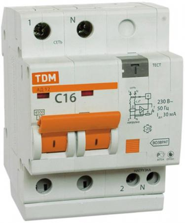 Автомат ТДМ SQ0204-0003 10А 30мА ад12 tdm sq0204 0013 дифавтомат