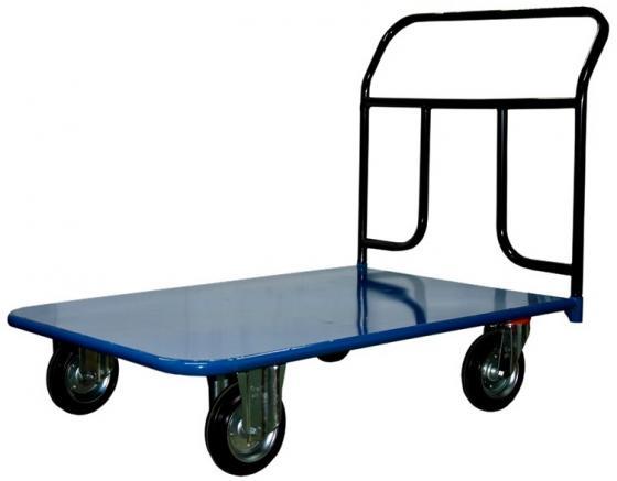 Тележка СТЕЛЛА КП-450 700х1250 200-K платформенная 4 колеса тележка стелла кпо 500 с борт сетка 200 к платформенная 4 колеса