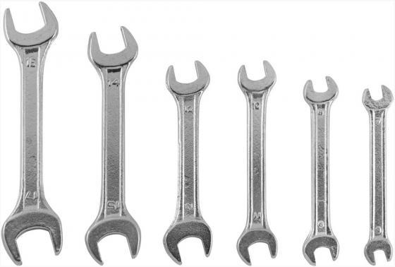 Набор рожковых ключей KROFT 210206 (6 - 17 мм) 6 шт.