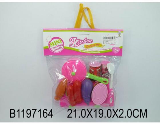 Набор продуктов Shantou Gepai Mini Cooking World пластик набор продуктов shantou gepai пицца y5155422