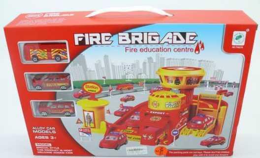 Пожарная станция Shantou Gepai TH8378 красный B1060628 shantou gepai парковка автозаправочная станция