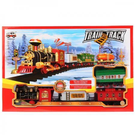 Железная дорога на бат., свет+звук, с аксесс. в кор. 13789 в кор. 2*12шт железные дороги shantou gepai железная дорога бронепоезд