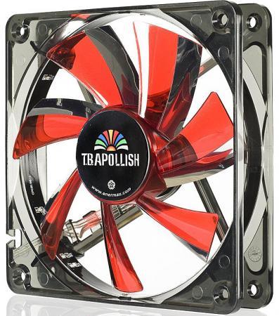 Вентилятор Enermax 12см UCTA12N-R [T.B. Apollish] 120x120x25, красный, LED-кольцо с 12 диодами, 900 об/мин, 17 дба, 63,78 м3/ч, адаптер 3P к 4P вентилятор enermax ucta12n bl