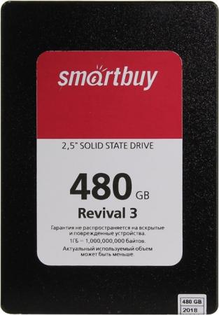 Твердотельный накопитель SSD 2.5 480Gb Smartbuy Revival 3 SATA3,550/380Mbs, 3D TLC, PS3111, 7mm (SB480GB-RVVL3-25SAT3) new women bag luxury alligator pu leather women handbags high quality famous designer handbag female shoulder bags sac a main