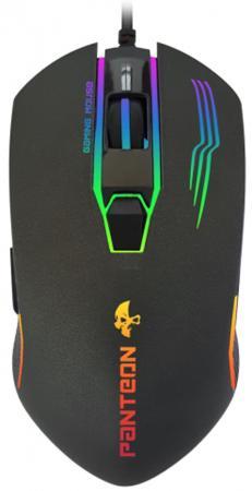 Проводная игровая программируемая мышь Jet.A Panteon MS69 (1200-3200dpi,6пр.кнопок,LEDподсветка,USB) redragon phaser [75169] проводная игровая мышь оптика 6кнопок 1000 3200dpi
