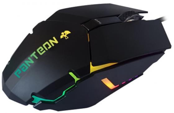 Проводная игровая программируемая мышь Jet.A Panteon MS63 чёрная (500-2000dpi,6пр.кн,LED-подсв.,USB) цена и фото