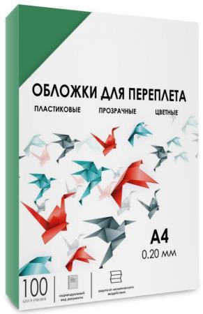 все цены на Обложки для переплета прозрачные пластиковые ГЕЛЕОС А4, 0.2 мм, зеленые, 100 шт. PCA4-200G онлайн