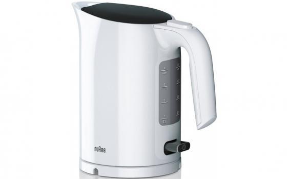 Чайник электрический Braun WK 3000 WH 2200 Вт белый 1 л пластик чайник supra kes 1721 2200 вт белый 1 7 л пластик