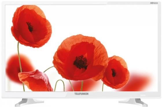 Телевизор LED 24 TELEFUNKEN TF-LED24S71T2 белый/HD Ready/DVBT-2/HDMI/USB led телевизор telefunken tf led24s62t2 r 23 6 hd ready 720p черный