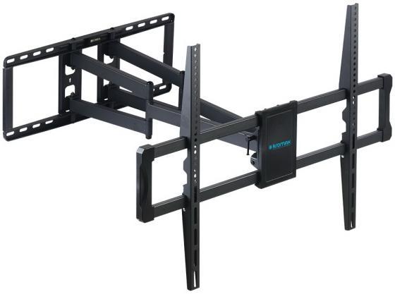 Фото - Кронштейн Kromax ATLANTIS-75 black (Наклонно-поворотный для LED TV 40-90, 3 ст. свободы, VESA максимум 800х600 ), нагрузка максимум 101кг aspect line 31 наклонно поворотный кронштейн для tv