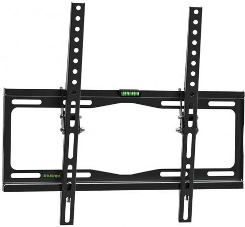 Кронштейн Tuarex OLIMP-114 black, настенный для TV 26-65, угол наклона 0 -12, от стены 25мм, VESA 400x400