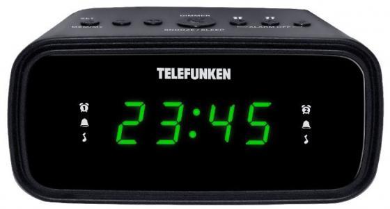 Часы с радиоприёмником Telefunken TF-1588 чёрный часы с радиоприёмником max cr 2909 серебристый чёрный