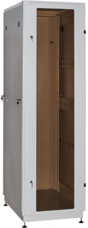"""Шкаф 19"""" напольный 18U 600x800, дверь со стеклом, серый, 3ч, NT PRACTIC 2 MG18-68 G"""