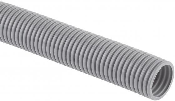 Dkc 9191650 Труба ПВХ гибкая гофр. д.16 мм , лёгкая с протяжкой, 50м, цвет серый труба жесткая гладкая пвх d 20мм 2м лёгкая серый