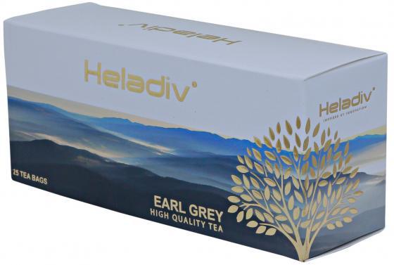 Чай черный HELADIV Earl Grey 50 гр. цитрус бергамот tipson earl grey черный чай в пакетиках 25 шт