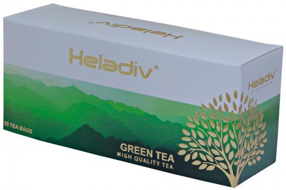 Чай зеленый HELADIV Green TEA 50 гр. modern tea дахунпао 20 пакетиков растворимый чай 100