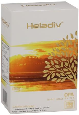Чай черный HELADIV Opa 100 гр. maitre оригинальный цейлонский крупнолистовой черный чай 100 г