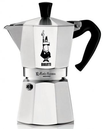 Кофеварка гейзерная Bialetti Moka Express 6 порций алюминий 1163 цена и фото