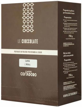 Растворимое какао COSTADORO Le Cioccolate Milk Chocolate 750 гр. pepperidge farm maui milk chocolate coconut almond chocolate chunk crispy cookies pack of 4