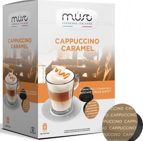 Кофе в капсулах MUST Dolce Gusto: Cappucino Caramel 300 грамм