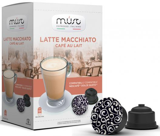 Кофе в капсулах MUST Dolce Gusto: Latte Macchiato 300 грамм кофе nescafe dolce gusto latte macchiato капсульный