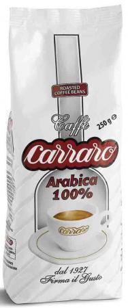 Кофе в зернах Carraro Arabica 100% 250 грамм