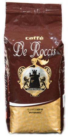 Кофе в зернах De Roccis Oro Intenso 1000 грамм de roccis oro кофе в зернах 1 кг
