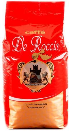Кофе в зернах De Roccis Rossa Cremoso 1000 грамм кофе в зернах de roccis rossa 1 кг