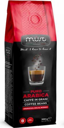 Кофе в зернах MUST Pure Arabica 500 грамм must pure arabica кофе в зернах 1 кг