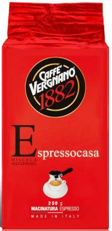 Кофе молотый Vergnano Espresso casa 250 грамм кофе зерновой segafredo espresso casa