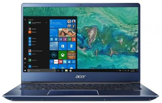 Ноутбук Acer Swift SF314-54G-52CK 14 1920x1080 Intel Core i5-8250U 256 Gb 8Gb nVidia GeForce MX150 2048 Мб синий Windows 10 Home NX.GYJER.002 nokotion laptop motherboard for acer 4730z series la 4201p mother board intel gl40 mb at902 002 mbat902002 mainboard x4500 ddr2