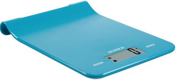 Весы кухонные электронные Supra BSS-4101 макс.вес:5кг голубой кухонные весы bologna голубой