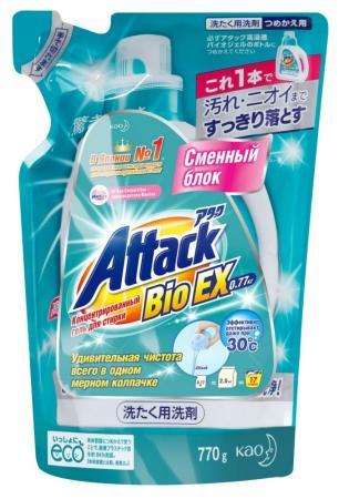 все цены на ATTACK BioEX Концентрированный универсальный гель для стирки сменный блок 0,77 кг