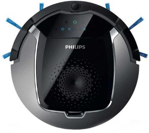 Робот-пылесос Philips FC8822/01 сухая влажная уборка серебристый чёрный недорого