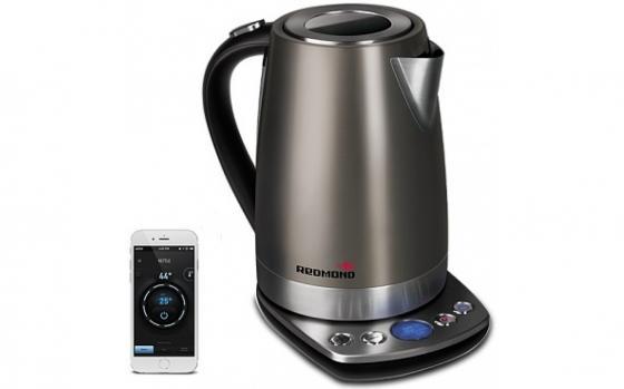 Чайник электрический Redmond RK-M173S-E 1.7л. 2200Вт коричневый чайник электрический redmond rk m173s e серый
