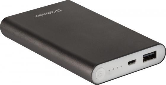 Внешний аккумулятор Power Bank 8000 мАч Defender ExtraLife темно-серый 83622 цены онлайн