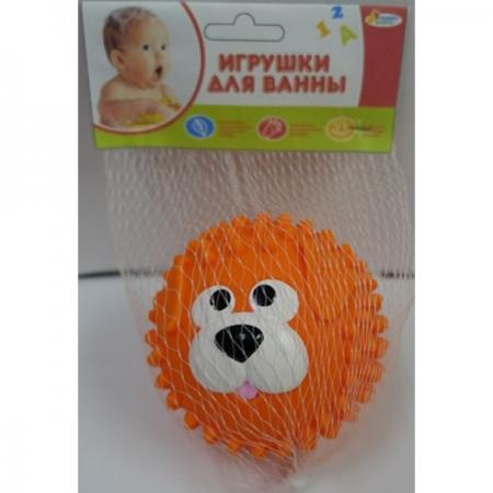 Игрушка для купания для ванны ИГРАЕМ ВМЕСТЕ Мячик-собака 8 см игрушки для ванны играем вместе набор игрушек для ванны играем вместе