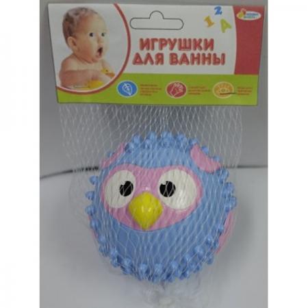 Игрушка для купания для ванны ИГРАЕМ ВМЕСТЕ Мячик-сова 8 см игрушки для ванны babymoov игрушка для купания кубики а104925
