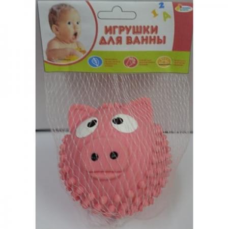 Игрушка для купания для ванны ИГРАЕМ ВМЕСТЕ Мячик - свинка 8 см игрушки для ванны играем вместе игрушка для ванной тачки макквин disney