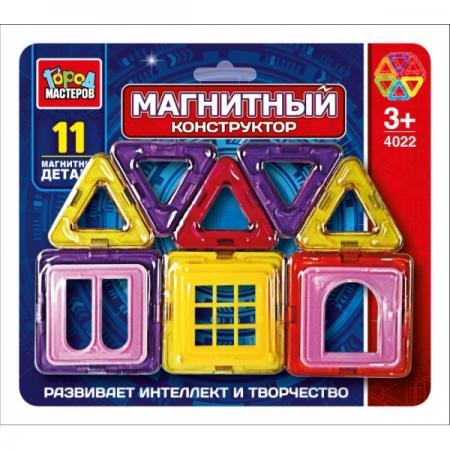 цена на Магнитный конструктор Город мастеров DT-4022-R 11 элементов DT-4022-R