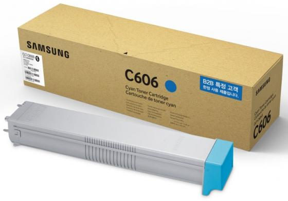 цена на Картридж HP CLT-C606S для Samsung CLX-9350ND CLX-9352NA CLX-9352 20000 Голубой