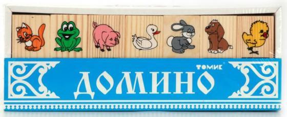 Настольная игра домино Томик ЖИВОТНЫЕ ЛЕСА журнал животные леса 43