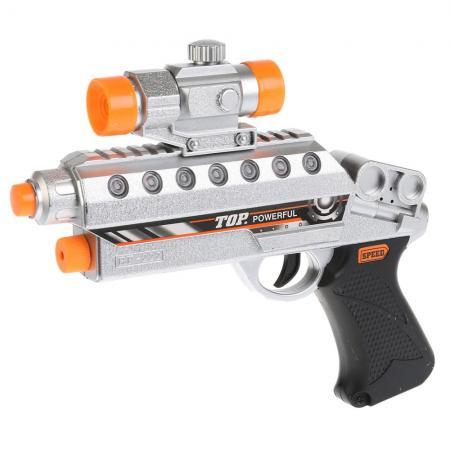 Пистолет Shantou Gepai Super gun черный серый B864583 пистолет shantou gepai desert eagle серый прицел гелевые пули usb зарядка 635448